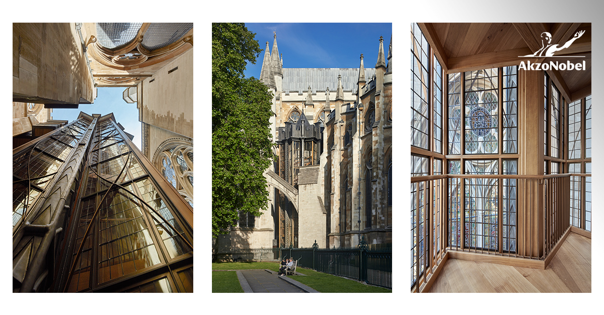 AkzoNobel supplies coatings for historic addition to Westminster Abbey